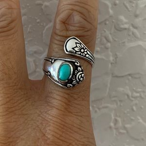 Jewelry - 🥄TOP SELLER🥄 Silver Style Spoon Ring/Turquoise